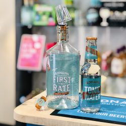 Adnams First Rate Gin and their new Tonic Water in our Ipswich store